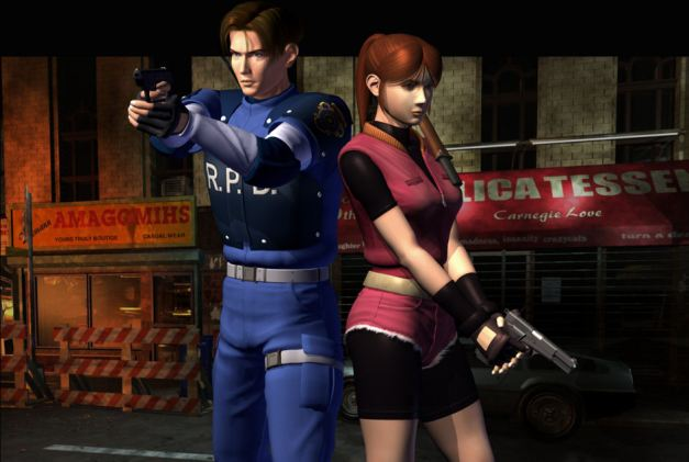 leon kennedy e claire redfield resident evil 2